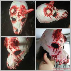 Handmade skull mask for Halloween 2018! by Nellyandsmilerlover