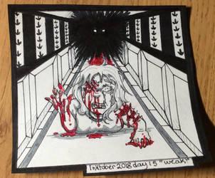 Inktober day 15 ''weak'' by Nellyandsmilerlover