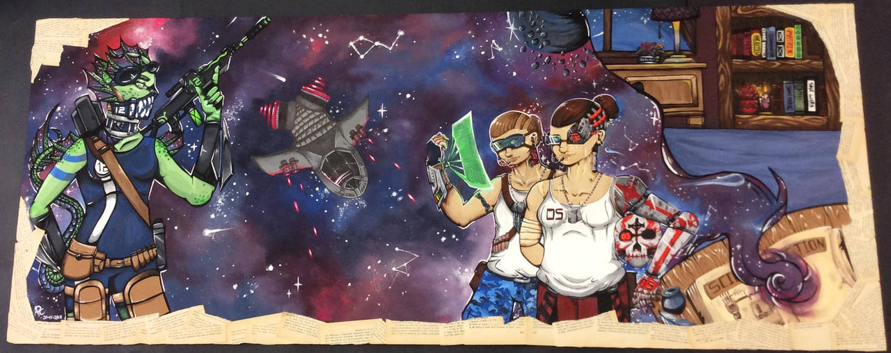 Science Fiction themed board by Nellyandsmilerlover