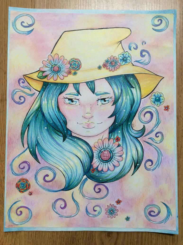 Yellow hat by Nellyandsmilerlover