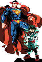 Crossover - Superman and Deku by Diego-SSA