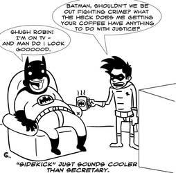 The Dark Knight's Dark Coffee by huxtiblejones