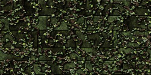 Green bricks w/vine 1 (remake) by Hoover1979