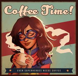 Coffee Time! - Ms Marvel (Kamala Khan) by WePePe