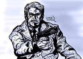 Shadowy Crime Figure by LeevanCleefIII