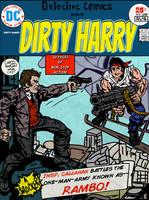 Dirty Harry vs. Rambo (Jack Kirby Tribute) by LeevanCleefIII