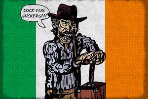 Sean Mallory (DUCK YOU, SUCKER caricature) by LeevanCleefIII