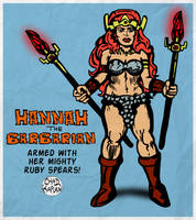 Hannah the Barbarian and her Ruby Spears by LeevanCleefIII