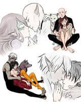 Fenris/Hawke and Lavellan/Solas by Purple-Meow