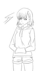 Sweat Misaka Mikoto - Line Art by Skydevil55
