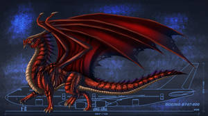 Size of a Red Dragon by Ghostwalker2061