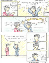 Phoenix Wright Comic 3 by AzureDragon4