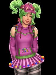 Fortnite Candy Girl Render by Malik-Hatsune