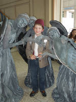 The Doctor and Weeping Angels at MetroCon 2012 by Timestitcher
