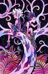 Killua + Gon by cryptosilver