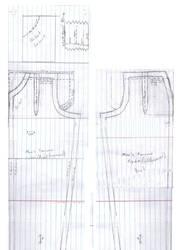 Dollfie Mens trousers pattern by DedHampster
