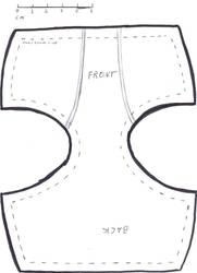bjd 60cm underwear pattern by DedHampster