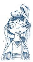 Boceto Heidi con orejas by lasirenita