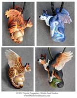 Winged Cats and Dogs by soulofwinter
