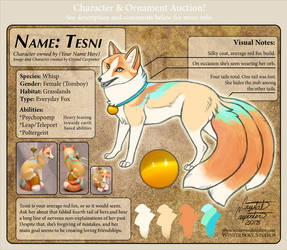 Character Auction - Tesni - CLOSED by soulofwinter