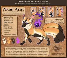 Character Auction - Aysel - Closed by soulofwinter