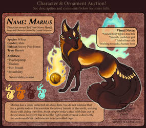 Character Auction - Marius - Closed by soulofwinter