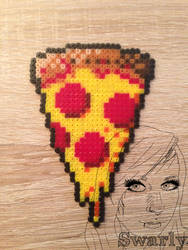 Pizza Perler by Swarly7