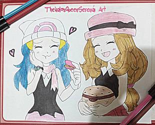 Tasting Serena's Macrons~Dawn and Serena by TheKalosQueenSerena