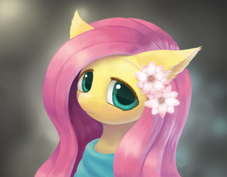 Weekly art#70 Fluttershy by HowXu