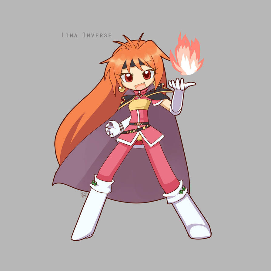 Commission Lina Inverse by HowXu