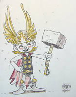 Tiny Thor by StephenMcCranie