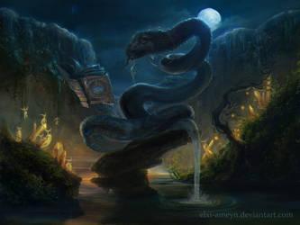 Water Snake by ElXi-Ameyn