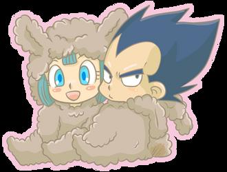 Llama Vegeta and Bulma by riku2000