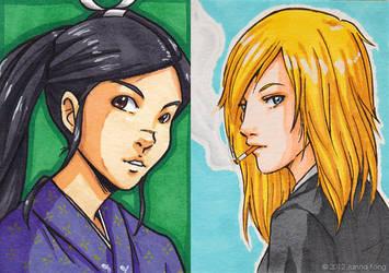 Akiko and Roman by jfong