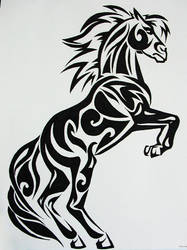 Tribal Horse by Cath300
