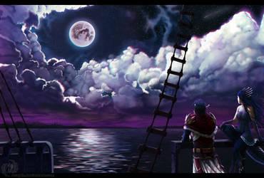 Night sky by Acayth