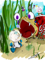 Pikmin 3.- ESCAPE FROM THE SPOTTY RED DANGER by drivojunior