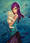 Cornelia holding a little beast by Ziggafee