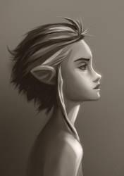 Dreamy Profile-Elf by Ziggafee