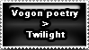 Vogon Poetry Stamp by juliaGENOCIDE