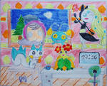 Four Pokemon and the Star chrc. Scene by Puswi