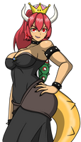 Bowsette ver. Pelirroja by ginyu1992