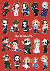 Horror icons 1 by kay3o3