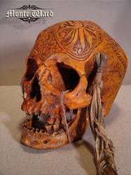 Carved Dayak War Trophy Skull2 by dreggs88
