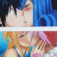 fairy tail kiss by valentina753