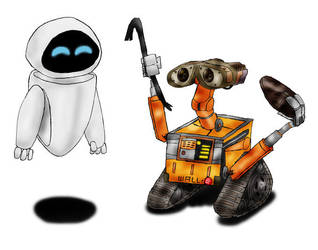 WALL-E and EVE by Meltharos