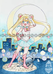 Chibi Sailor Moon by Melanoleuca