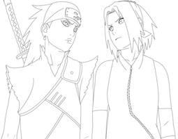 Karui and Sakura 453 LINES by StikyfinkaZ-003