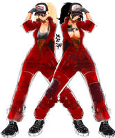 Red Gang random twins girls Speed drawing 1H30 by MaKuZoKu