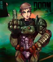 Doom Gal -No helmet version by MaKuZoKu